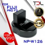 PRO F3 แบตเทียบและแท่นชาร์จ Fuji NP-W126 X-PRO1 X-PRO2 XA1, XA2 XA3 XT10