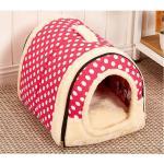 <สอบถามราคา> บ้านน้องหมาแมว ที่นอนน้องหมาแมว เบาะนอนน้องหมาแมว นำเข้าจากญี่ปุ่น ลายจุดสีชมพู