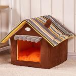 <สอบถามราคา> บ้านน้องหมาแมว ที่นอนน้องหมาแมว เบาะนอนน้องหมาแมว นำเข้าจากญี่ปุ่น ทรงบ้านสีน้ำตาล