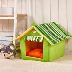 <สอบถามราคา> บ้านน้องหมาแมว ที่นอนน้องหมาแมว เบาะนอนน้องหมาแมว นำเข้าจากญี่ปุ่น ทรงบ้านสีเขียว