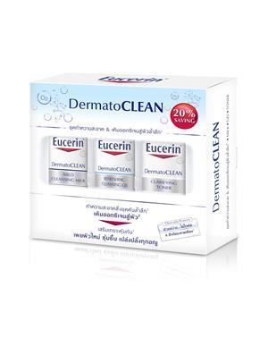 EUCERIN ชุดผลิตภัณฑ์ทำความสะอาดผิว โปร์โมชั่น เซ็ต เดอร์มาโท คลีน ขนาด (200+200+200 มล.)