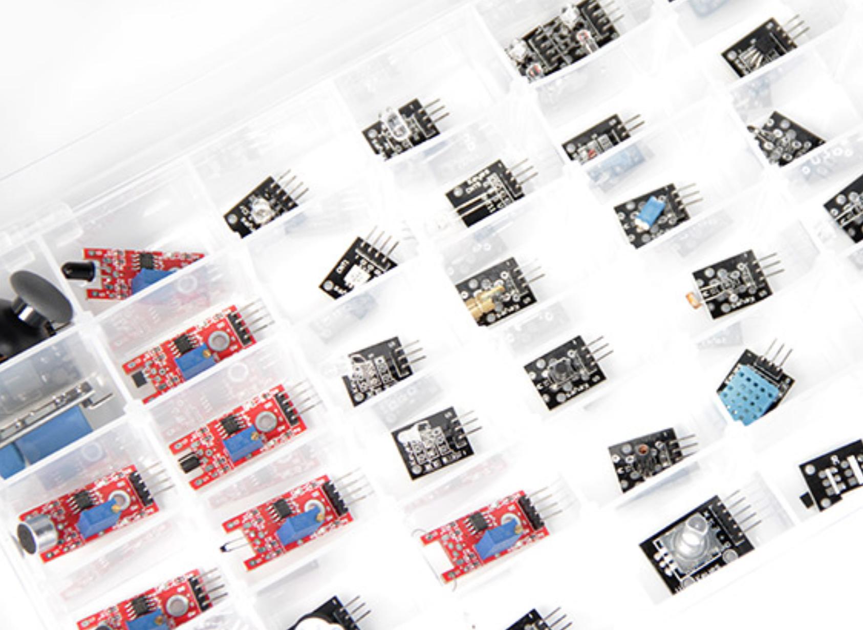 37 in 1 Sensor Module Kit for Arduino พร้อมกล่องพลาสติก