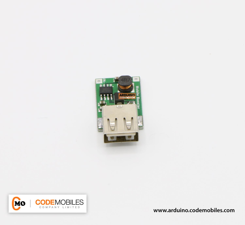 USB สเตปอัพ แปลงไฟ 0.9 - 5 โวลต์ เป็น 5 โวลต์ กระแสสูงสุด 500 MA (0.9-5V To 5V 500mA USB Charger DC-DC Converter Step Up Module)