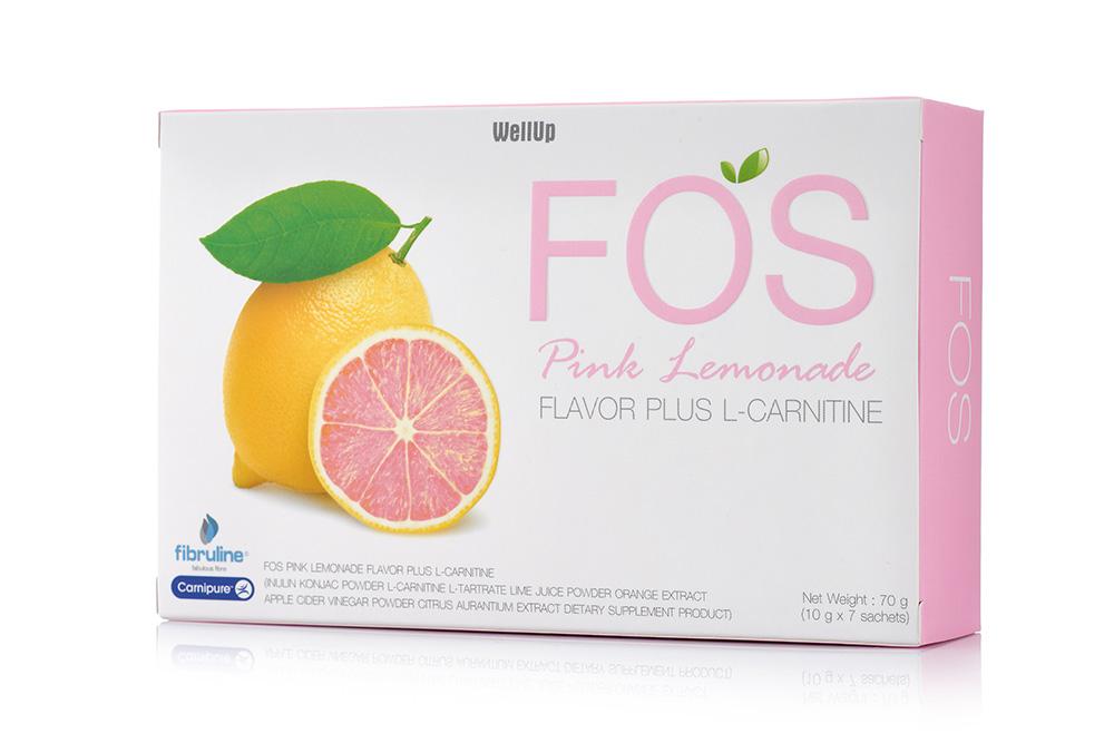 อาหารเสริม Fiber Detox ลดน้ำหนัก กระชับสัดส่วน FOS PINK Lemonade Flavor Plus L-Carnitine