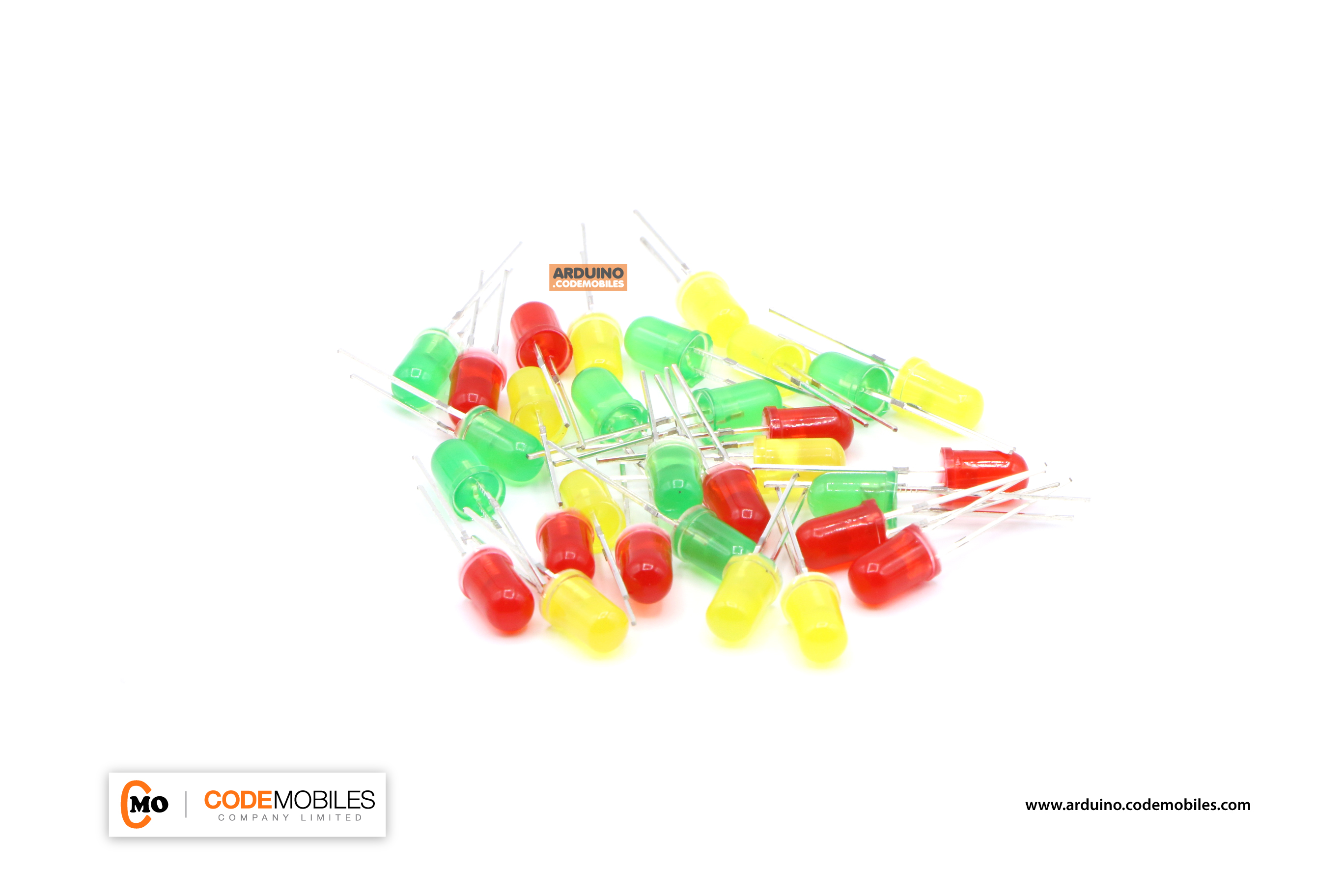 LED 5mm จำนวน 30 ดวง 3 สี อย่างละ 10 ดวง