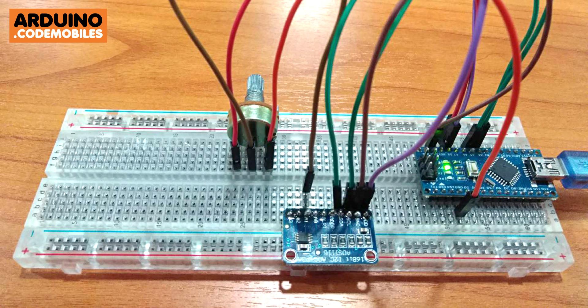 วิธีใช้งาน ADS1115 I2C ADC 4 Channel 16-Bit ร่วมกับตัวต้านทานแบบปรับ