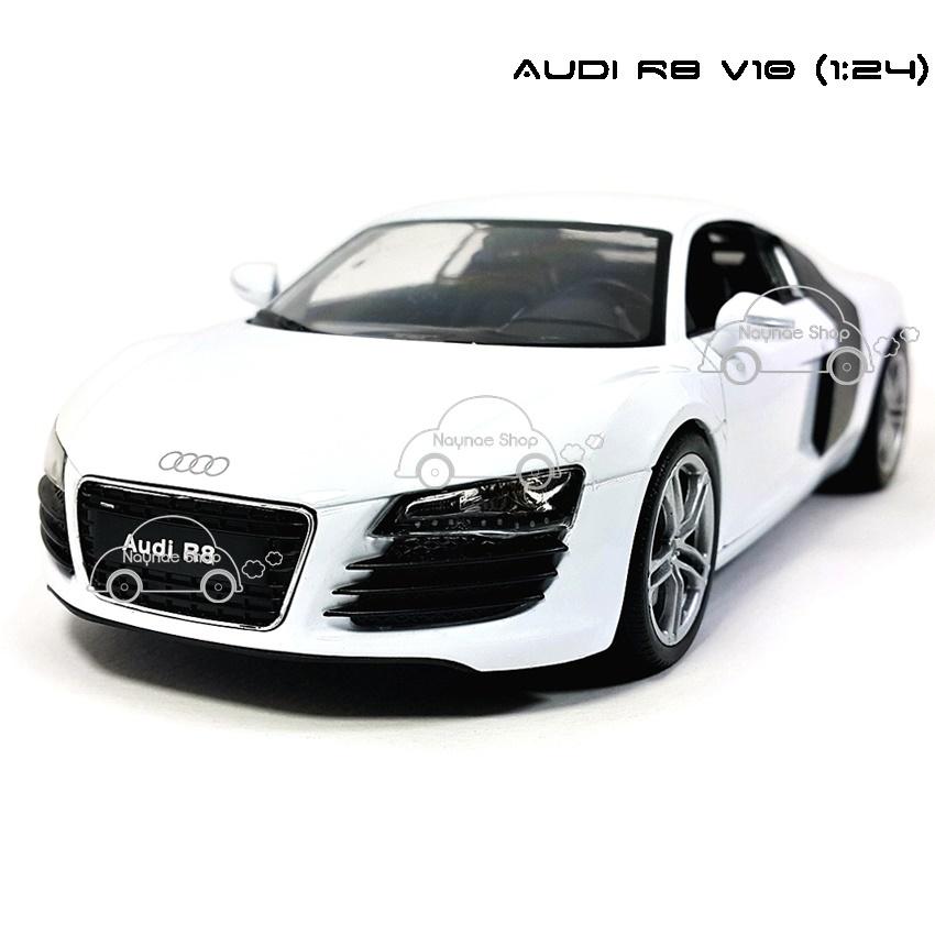 WELLY โมเดลรถ AUDI R8 V10 สีขาว (Scale 1:24)