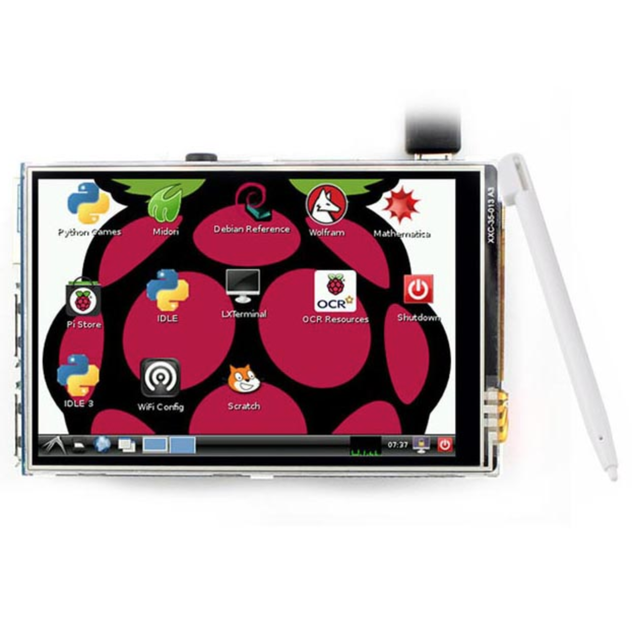 "3.5"" Raspberry Pi LCD Touch Screen Display พร้อมปากกา Stylus"