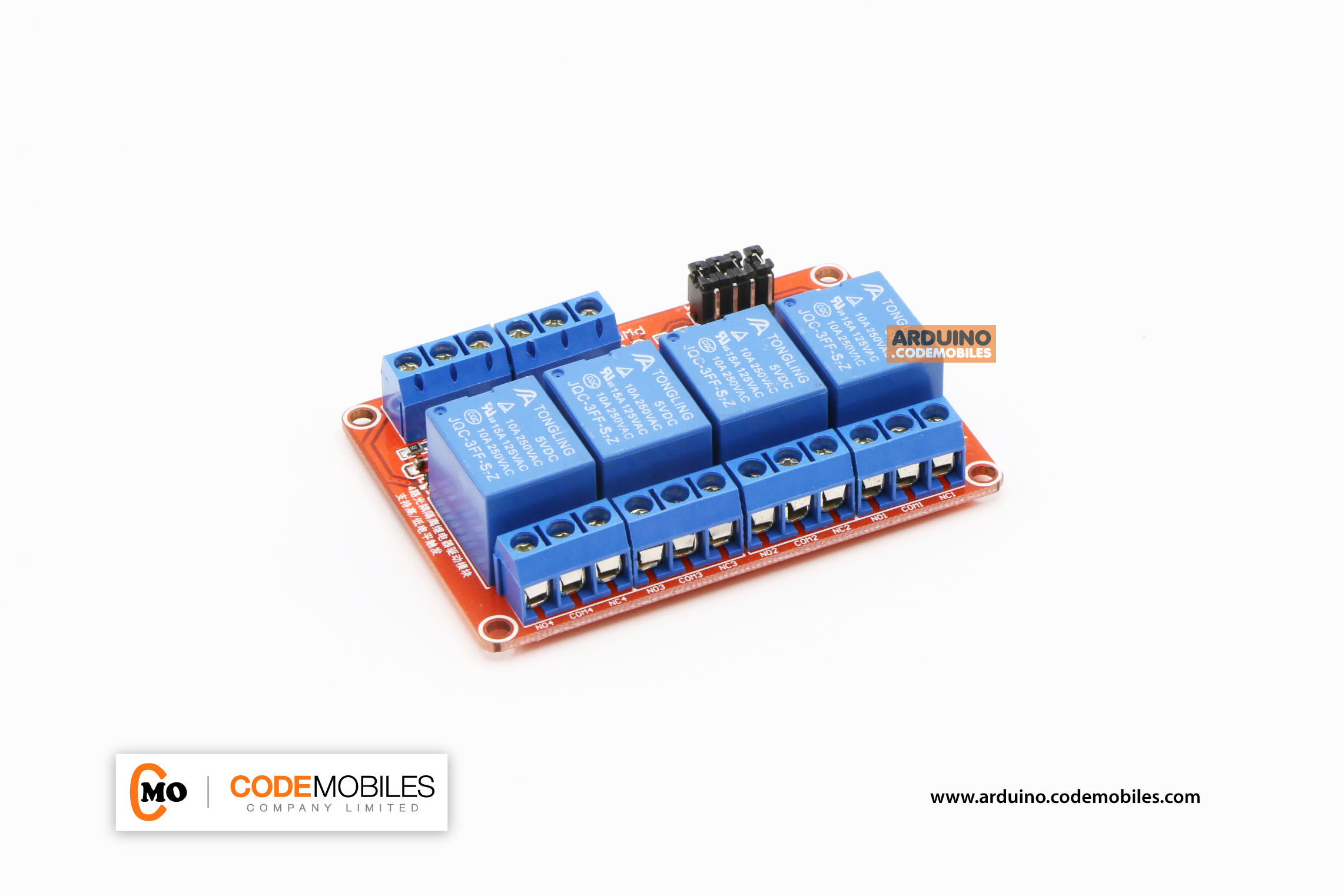 4-Channel 5VDC Relay Module Relay Active High / LOW