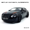 MZ โมเดลรถ BENTLEY Continental Supersports สีดำ (Scale 1:24)