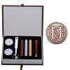 AH Letter Alphabet Wax Badge Seal Stamp w/Wax Kit Set Letter A-ZOptional (Intl)
