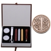 AI Letter Alphabet Wax Badge Seal Stamp w/Wax Kit Set Letter A-ZOptional (Intl)