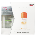 BUY1 GET1 FREE EUCERIN ACNE OIL CONTROL 50 ml free EUCERIN DERMOPURIFYER ACNE & MAKE-UPCLEANSING WATER 200 ml