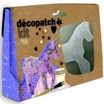 Decopatch - MINI KIT, Unicorn เซ็ตโมเดลกระดาษแข็งสำเร็จรูป ม้าUnicorn สำหรับทำงานศิลปะ ขนาด3.5 x 19 x 13.5 ซ. ม.พร้อมอุปกรณ์ในกล่อง โมเดลกระดาษแข็งรูปทรงม้า, กาว 1 ขวด, พู่กัน 1ด้าม, กระดาษ decopatch