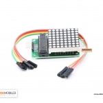 MAX7219 IC Driver Module + LED Dot Matrix 8x8 ขนาด 40mm x 40mm พร้อมสายไฟ