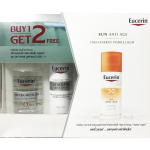 BUY1 GET2 FREE EUCERIN ANTI AGE 50 ml free EUCERIN DERMATO CLEAN CLEANING WATER 125 ml&MIST SPRAY 50 ml