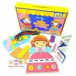 Todds & Kids Toys ของเล่นเสริมพัฒนาการ ตัดชุดให้ตุ๊กตาไม้(Little Designer)(Multicolor)