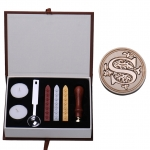 AS Letter Alphabet Wax Seal Stamp Wax Kit Set Letter A-Z Optional(Intl)