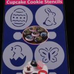 แผ่นแต่งหน้าคัพเค้ก คุ๊กกี้ แต่งหน้ากาแฟ 4 แบบ ลายผีเสื้อ กระต่าย ไข่ CAKE STENCILS BAKE235