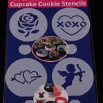 แผ่นแต่งหน้าคัพเค้ก คุ๊กกี้ แต่งหน้ากาแฟ 4 แบบ ลาย กุหราบ หัวใจ คิวปิด CAKE STENCILS BAKE234