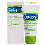 Cetaphil UVA UVB Defence SPF50+ 50ML ครีมกันแดดสำหรับผิวหน้า เซตาฟิล