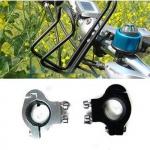 ตัวจับที่วางขวดน้ำ กับแฮนด์จักรยาน BIKE138 สีเงิน