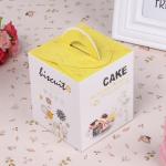 กล่องใส่คัพเค้ก 1 หลุม ใส่คุ๊กกี้ ใส่ขนม มีหูหิ้ว 5 กล่อง BAKE170