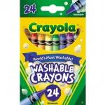 Crayola สีเทียนล้างออกได้24สีไร้สารพิษ
