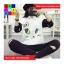 เสื้อกันหนาวแฟชั่น คอกลม แขนยาวทูโทน ลายแมวเหมียวน่ารัก สีขาว thumbnail 2
