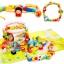 SK-Toys ร้อยเชือกลูกปัด 80 ชิ้นพร้อมจิ๊กซอว์ต่อเป็นพื้นเมือง 2 ลายเก็บในกระป๋อง thumbnail 1