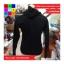เสื้อแฟชั่น มีฮูด แขนยาว ผ้าฝ้าย ลาย LIFE สีดำ thumbnail 2