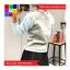 เสื้อแฟชั่น คอกลม แขนยาวทูโทน บุผ้ากันหนาว ลายการ์ตูน สีเทา thumbnail 3