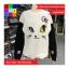 เสื้อกันหนาวแฟชั่น คอกลม แขนยาวทูโทน ลายแมวเหมียวน่ารัก สีขาว thumbnail 4