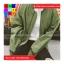 เสื้อคลุม แขนยาว ซิปหน้า ผ้า poly ester สีเขียว thumbnail 4