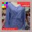 เสื้อแฟชั่น แขนยาว คอวี กระดุมหน้า ลายทาง สีฟ้า thumbnail 12