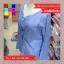 เสื้อแฟชั่น แขนยาว คอวี กระดุมหน้า ลายทาง สีฟ้า thumbnail 13