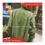 เสื้อคลุม แขนยาว ซิปหน้า ผ้า poly ester สีเขียว thumbnail 8