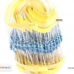 ตัวต้านทาน Resistor/Resister 1/4W 1% แพ็ครวม 30 ค่า ค่าละ 20 ชิ้น รวมเป็น 600 ชิ้น