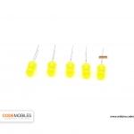 LED 5mm สีเหลือง จำนวน 5 ชิ้น
