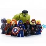 8 pcs/set Marvel &DC Avengers the Captain America