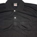 เสื้อโปโล สีดำล้วน มีกระเป๋า แขนจั๊ม SHIRT005 มีของพร้อมส่ง