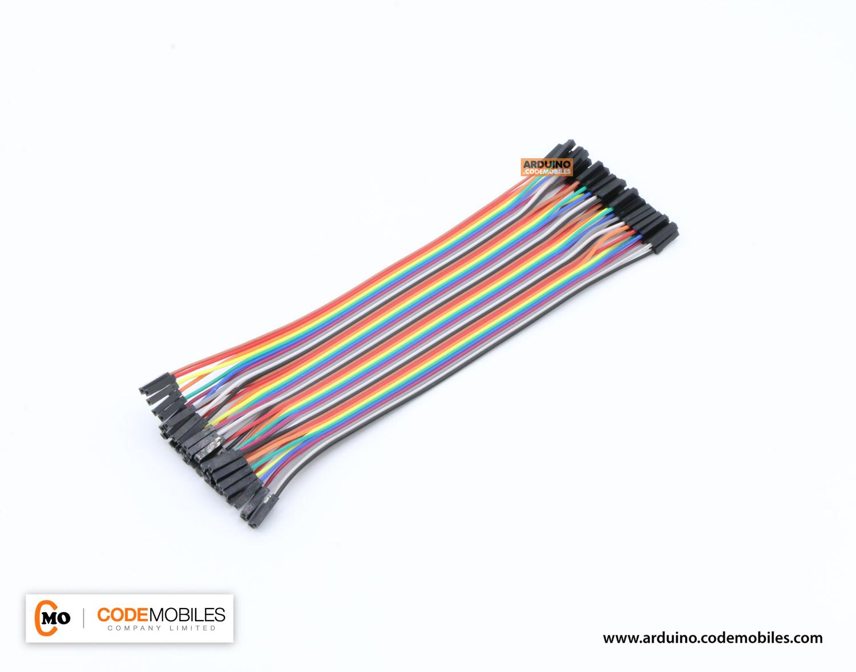 สายไฟ จัมเปอร์ Jump Wire (Female to Female) ยาว 20 cm จำนวน 40 เส้น