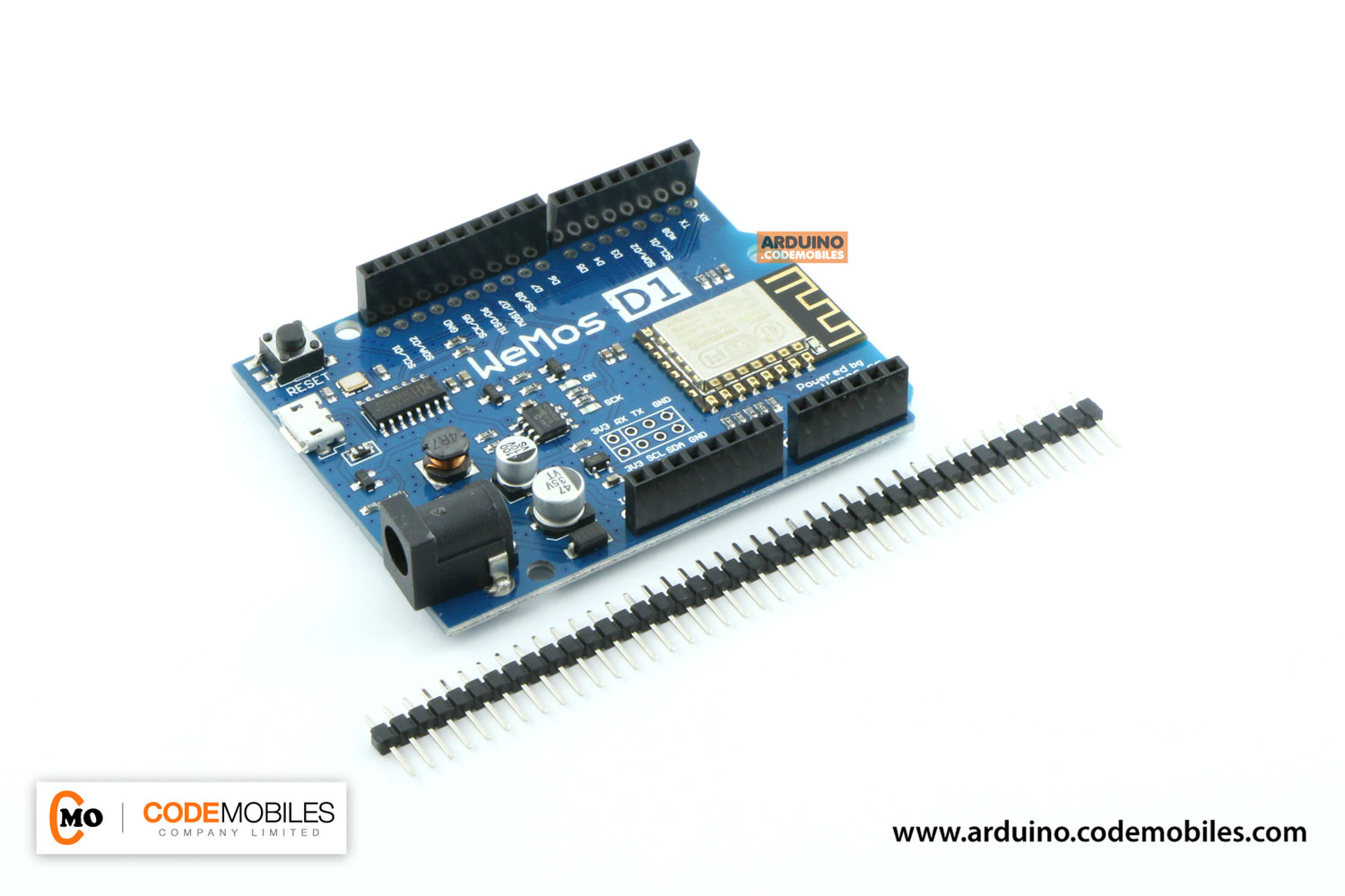 WeMos D1 R2 WiFi ESP8266 Development Board Compatible Arduino UNO Program Board (พร้อมก้างปลา 40 ขา 2.54 มม.)