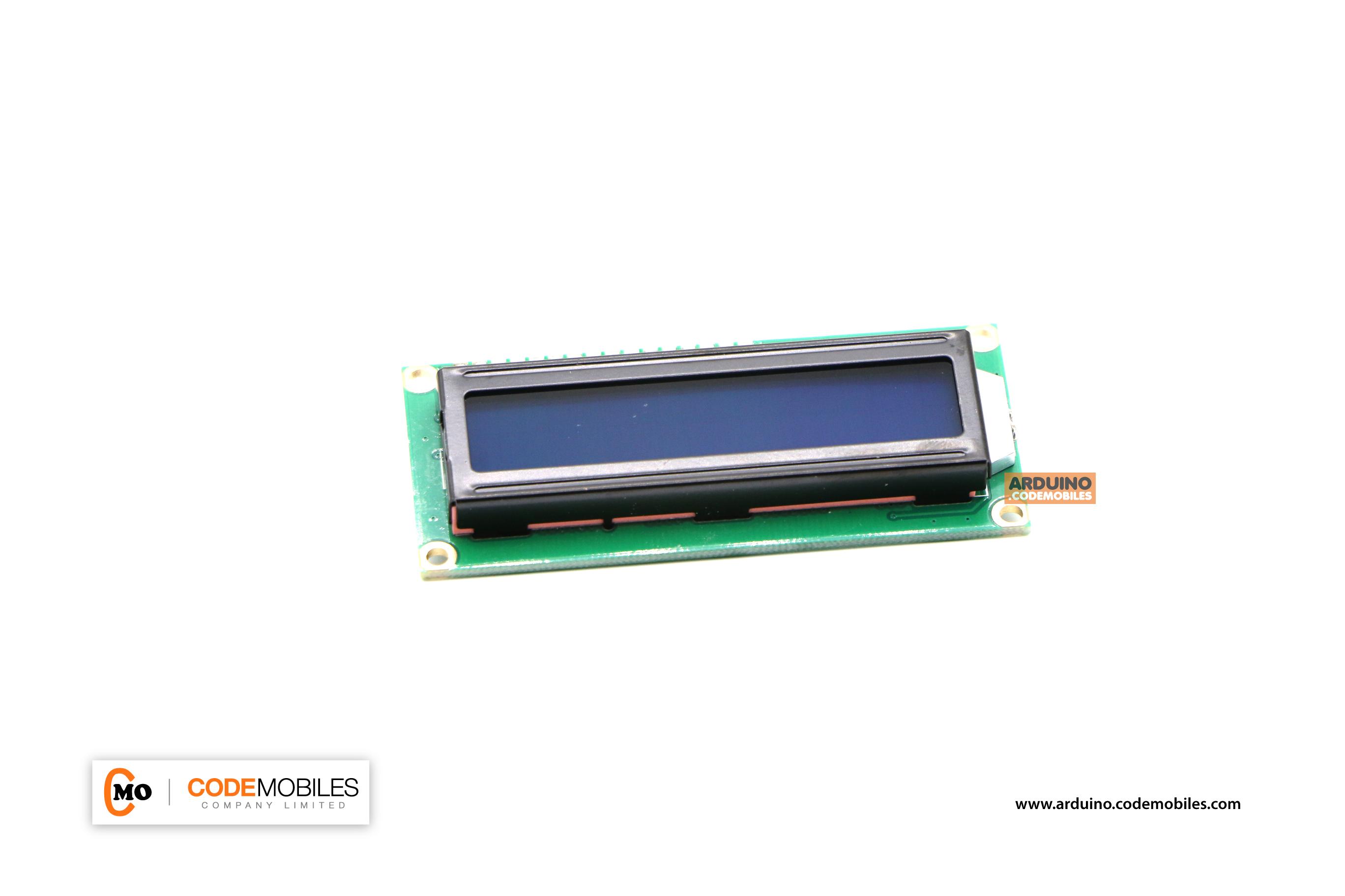 16X2 Character LCD Module Display (Blue Backlight) พร้อมบัดกรี I2C Interface
