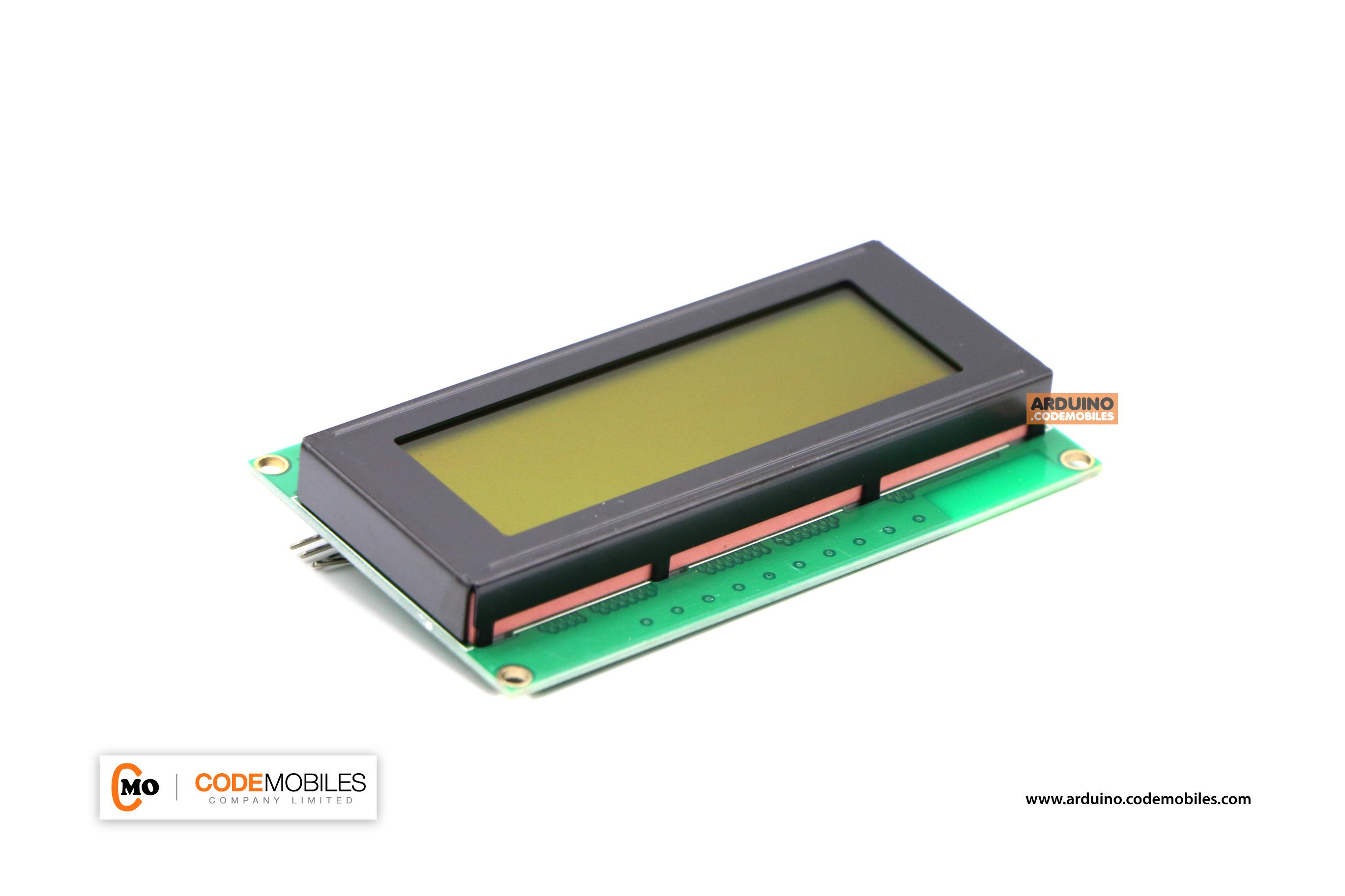20X4 Character LCD Module Display (Yellow Screen) พร้อมบัดกรี I2C Interface