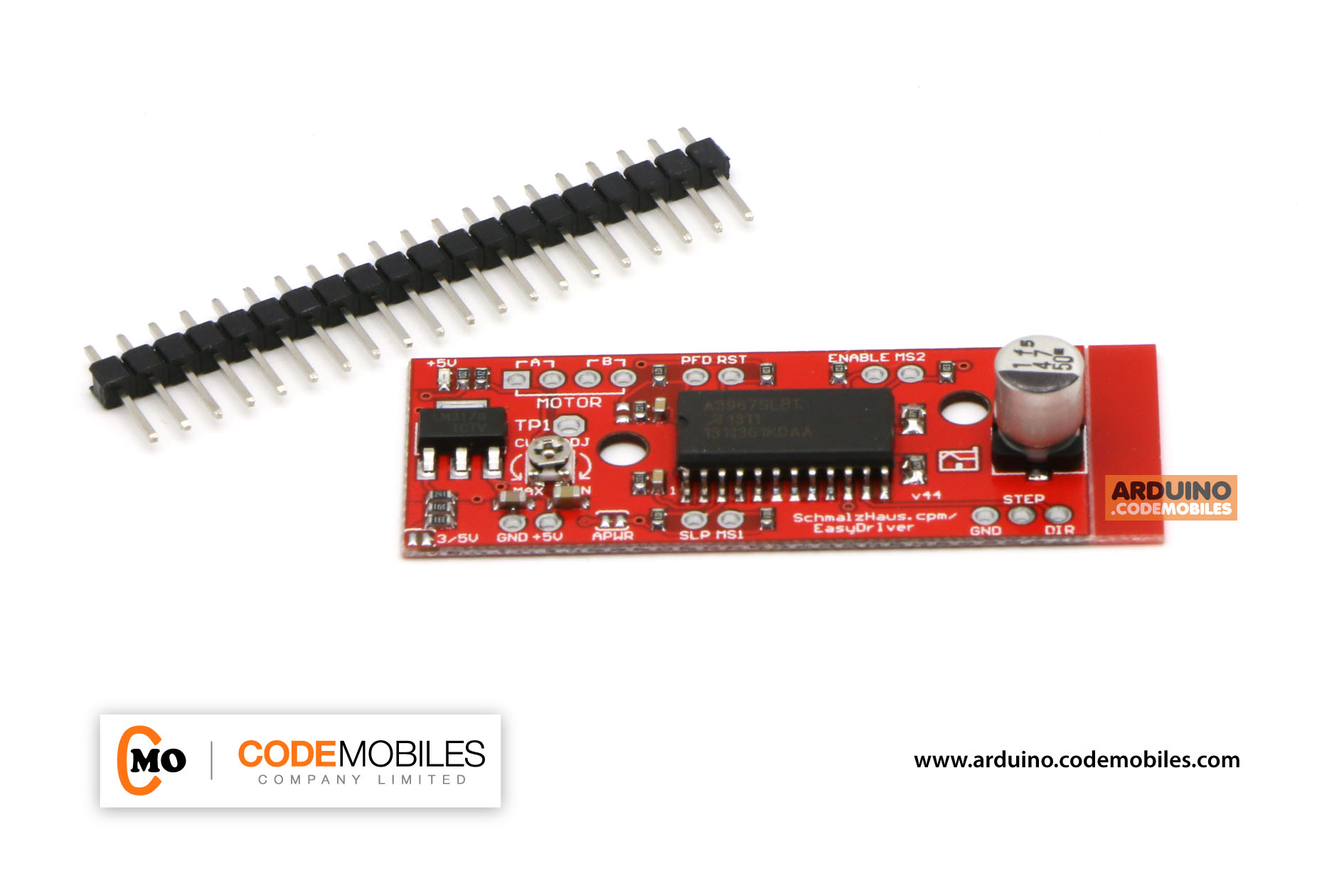 EasyDriver A3967 Stepper Motor Driver Module (with Pin Header)