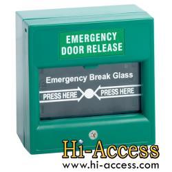 Emergency Break Glass ยี่ห้อ HIP (สีเขียว)