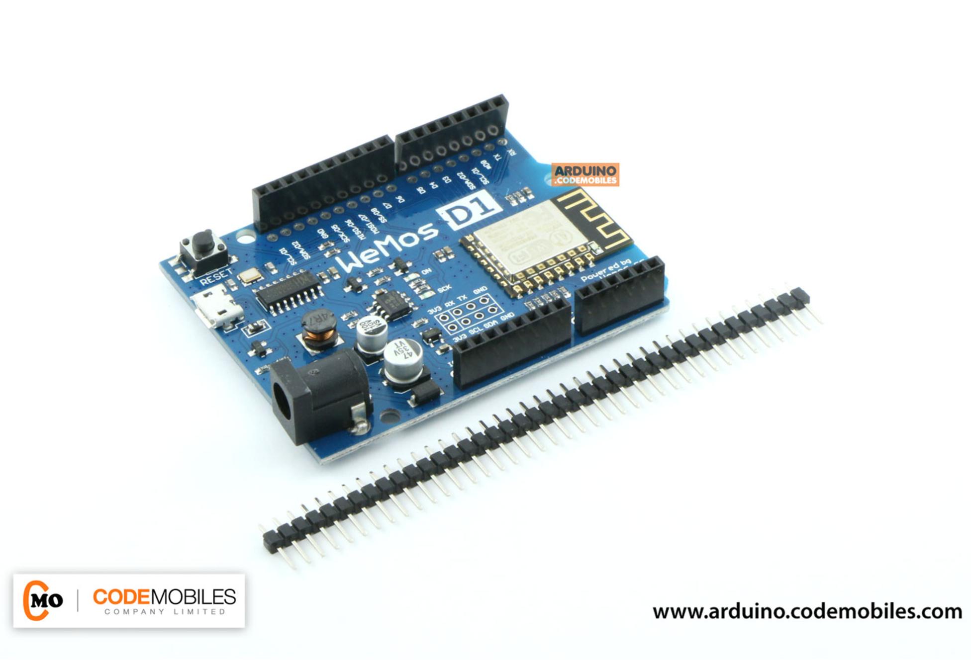 การใช้งานบอร์ด WeMos D1 ESP8266 และตัวอย่างการทำเป็น