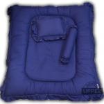 ที่นอนเด็กแรกเกิดแบบหลุมตกกลาง ลายพื้นสีน้ำเงิน