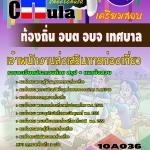 แนวข้อสอบข้าราชการไทย ข้อสอบข้าราชการ หนังสือสอบข้าราชการเจ้าพนักงานส่งเสริมการท่องเที่ยว ท้องถิ่น อบต อบจ เทศบาล อปท